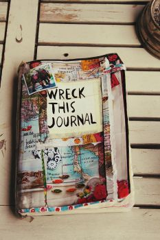 Front of my Wreck this Journal by puckrietveld