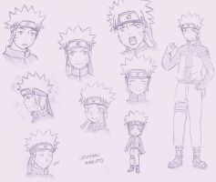 ++Naruto - sketches++ by Klimene