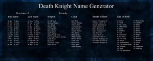 Death Knight Name Generator by Kagurou
