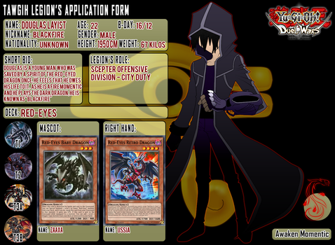 Douglas application form - Duel Wars by CharoGaming99