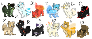Themed Pixel Pups Adopts -NYP- [Closed] by Unh0ly0ffspringAdopt