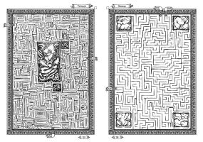 Book of Mazes Pages II by LegsHandsHead