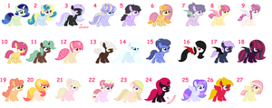 Adoptables 3 Open all at 20 points by MAPSpony