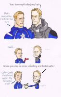 Captain America Vs. David (Prometheus) by puking-mama