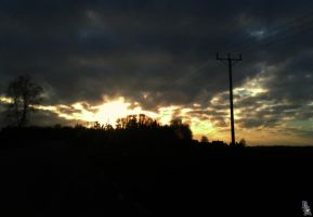 Evening sky 4 by wellgraphic
