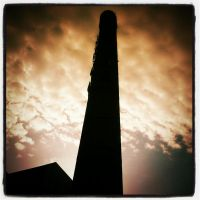 Dead factory chimney by grggrg