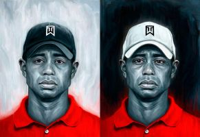 Tiger Woods by carts