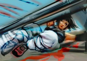 Mirror's Edge - Faith sketch by velsen