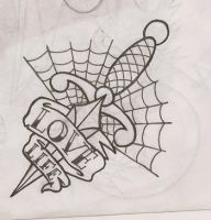 Dagger tattoo design by pandouken