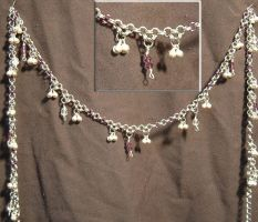 Purple belly chain by chainmaille