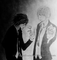 L Lawliet and Yagami Light by angelborndevil