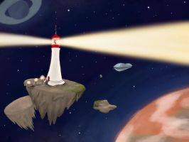 Lighthouse in the sky by rodrev