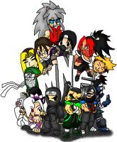 COVER-My Ninja Friends COLORED by TheGeckoNinja
