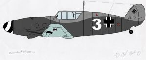 Bf 109F-2 Colored by Crypto-137