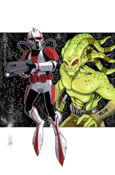 Commanders and Generals: Fil/Kit Fisto COLOR by Hodges-Art