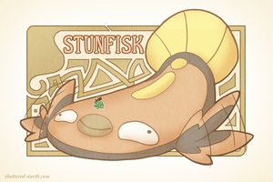 Art Nouveau Stunfisk by Shattered-Earth