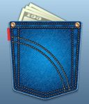 Create a Jeans Pocket Icon by lazunov