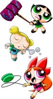 Oddly coloured Power puffs by Aleeria