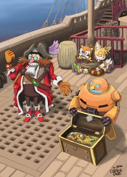 Eggman is a pirate! by F1Cheese