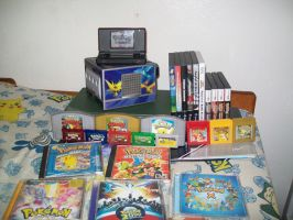 My Pokemon Video Games and CDs by Miya902