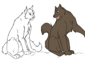 Russia and his son Siberia by Leopard-Gryphon
