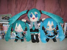 Triple Miku :3 by SmashBros2008