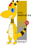 Robot Pokemon Challenge Day 12: Ampharos by Masterge77