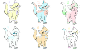 Pastel Kitty Adopts Auction [4/6 OPEN] by PurryProductions-Inc