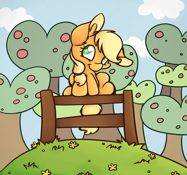Apple Orchard by CutePencilCase