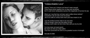 Indescribable Love by VisualPoetress