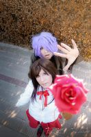 Don't give your rose, Ib !!!!! by Shu-Cosplay