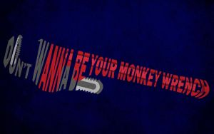 Monkey Wrench T-shirt Design by alsnow