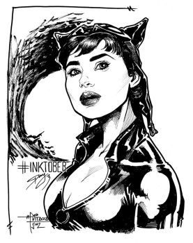 INKTOBER DAY 3 - Catwoman by mvitacca