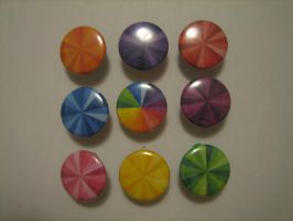 Colourful Buttons by flameinheaven