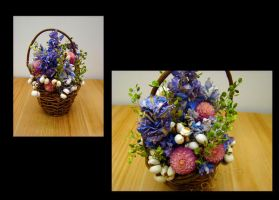 Small Floral Basket by Lostfiniel