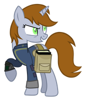 littlepip with the black book by aborrozakale