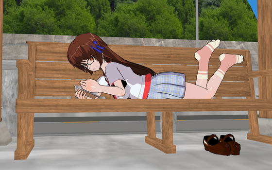 Resting At The Station  By Greendolphin24 by ninjakingofhearts