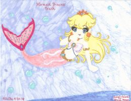 Mermaid Princess Peach 1 by rainingwaffles