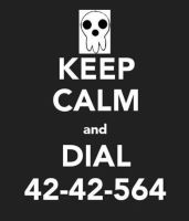 Keep Calm and Dial 42-42-564 by CheetoDorito