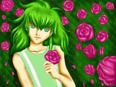 Shun and roses by VintageMangaLove