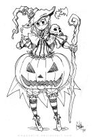 Pumpkin Witch Girl by MeganeRid