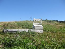 Old Abandoned Chair by Alienesse-Stock