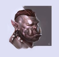 Orc Portrait speedpaint by BenedictWallace