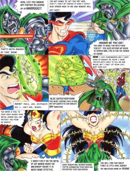 JLA Face to Face with Doom by YogurthFrost