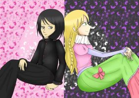 Sophie and Agatha from School for Good and Evil by Tintinfifa