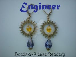 Engineer Guild Wars 2 Inspired Earrings by beadclass