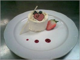 Strawberry Chiffon Cheesecake by Chef-Gothique