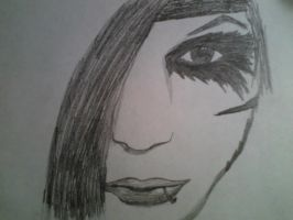 Andy Biersack Drawing by bubblenubbins