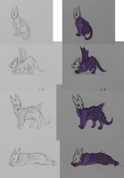 Eradidragon Sketches by FelineMyth