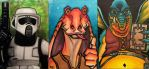 More various Star Wars Sketch Cards by MasonEasley